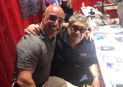A candid moment with Master Shuki Drai and Vincent Pastore