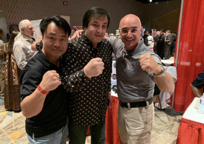 Great company at Exhibit Tables Action Martial Arts Magazine