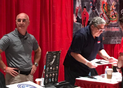 Master Shuki Drai and Vincent Pastore at the Exhibits Tables
