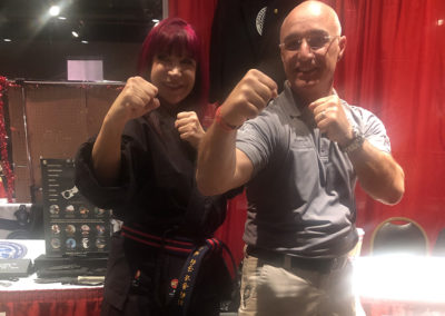 Master Shuki Drai with Cynthia Rothrock