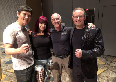 Master Shuki Drai with Don the Dragon Wilson and Cynthia Rothrock in Atlantic City