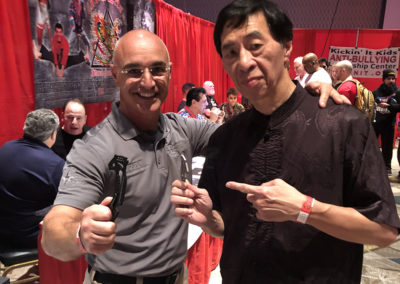 Master Shuki Drai with Grandmaster Samuel Kwok from Ip Man Wing Chun Kung Fu