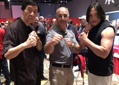 Master Shuki Drai with Grandmaster Samuel Kwok from Ip Man Wing Chun Kung Fu and Simon Kook Ip Man 3