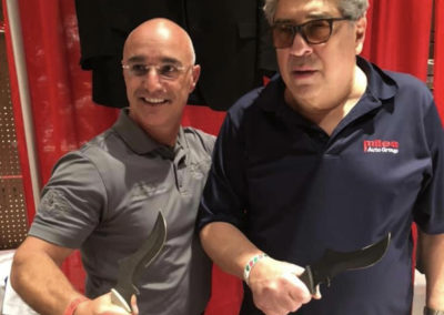 Master Shuki Drai with Vincent Pastore carrying s18