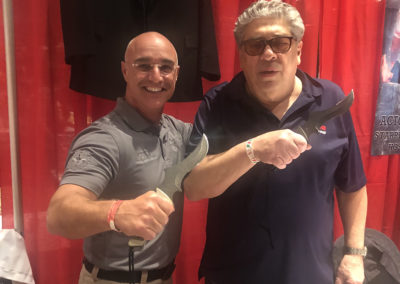 Master Shuki Drai with Vincent Pastore holding s18 knife
