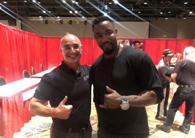Master Shuki Drai with actor Michael Jai White